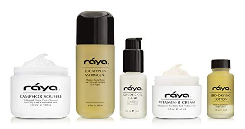 RAYA Oily Skin Care Kit (K-3) | 5 Piece Set of Best Selling Products for Oily Skin | Includes Cleanser, Toner, Moisturizer, Spot Treatment, and Serum