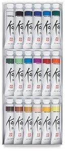 Koi Watercolor Paints 12ml 18/Pkg-Assorted Colors