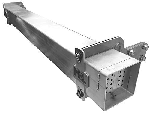 Mount-n-Lock SafetyStruts Ultralight Aluminum 4-Inch No-Weld RV Replacement Bumper Kit (Select Length) (UBKXX 95' Max, 4' Bumper Kit)