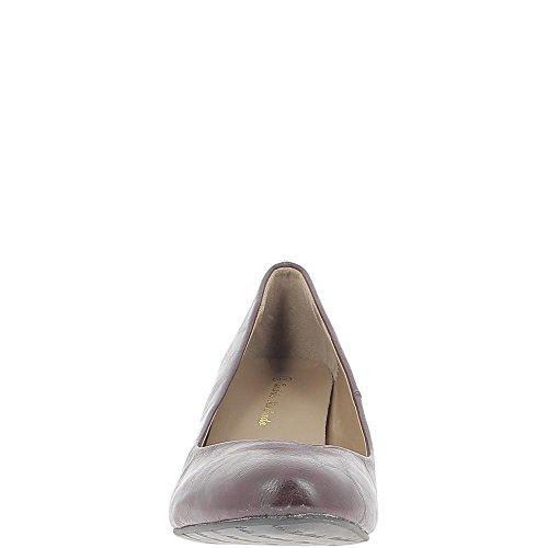 ChaussMoi Bombas de Gran Tacón DE 6.5 cm Burdeos Mujer Tamaño