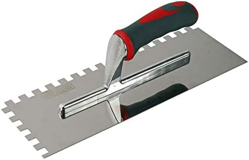 Faithfull FAISGTNOT10S Notched Trowel Stainless Steel 13 x 4 1//2in