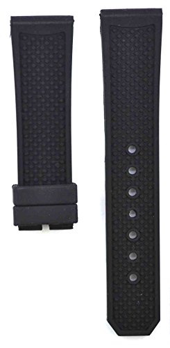 - 212ZTD 24mm Black Rubber Calibre De Cartier Replacement Watch Band Strap Free Spring BAR Tools 306CRT