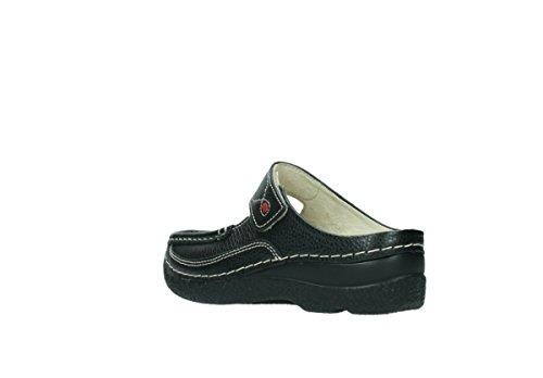 Wolky Dames Muilezels 0622712070 Roll-slipper Black 464.908 Veelkleurige