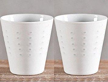 Decorative Ceramic Whiteware Cup Handmade Particle Candle Cu