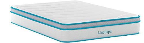 Linenspa 12 Inch Gel Memory Foam Hybrid Mattress - Ultra Plush - Individually Encased Coils - Sleeps Cooler Than Regular Memory Foam - Edge Support - Quilted Foam Cover - Full