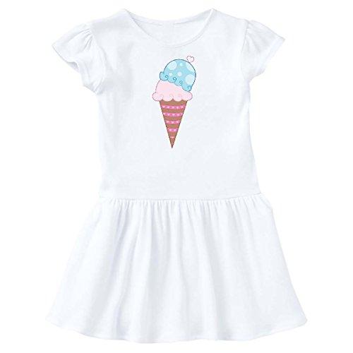 inktastic - Valentine's Day Ice Cream Cone Toddler Dress 5/6 White 2803e
