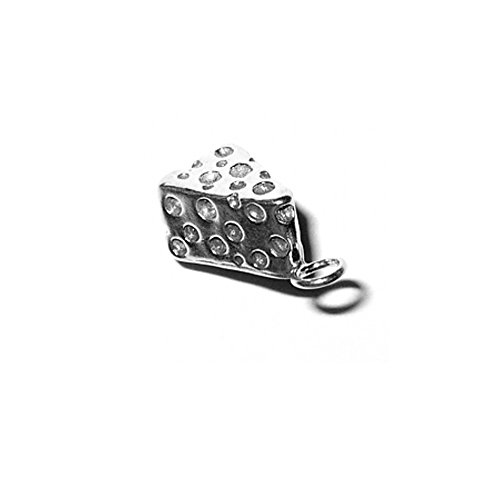 Sterling Silver 3D Swiss Cheese Charm Item #3570 ()