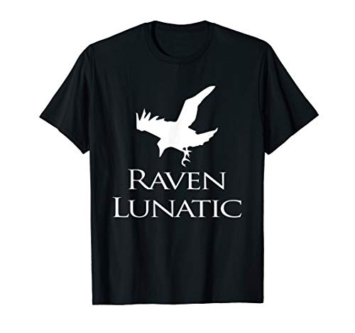 Raven Lunatic T Shirt Funny Goth Gothic Gift Men Women Kids ()