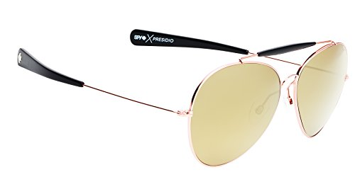 Spy Optic Unisex Presidio Happy Lens Collection Sunglasses, Gold with Black/Bronze, One Size Fits - Dj R&b Sunglasses