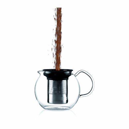 Bodum 1801-16US4 ASSAM Teapot, Glass Teapot with Stainless Steel Filter, 34 Ounce by Bodum (Image #1)