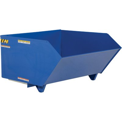 Vestil Self-Dumping Steel Hopper — Low Profile, 90°, 2,000-lb. Capacity, 1 1/2 Cubic Yard Volume, Model# H-150-LD - 1 1/2 Cubic Yard