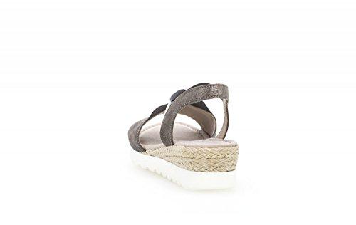 Gabor Comfort Sport 82.754.47 Store Damer Sko Sandalette I Løbet Størrelser Sort Grå iKjHp