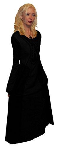 Kleid schwarz schwarz Damen LOTUS MOON qwaUcZ