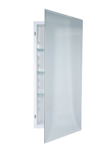 Jensen 868P34WHG Frameless Horizon Collection Single Door Recessed Cabinet, 36-Inch High 4-1/2-Inch Depth by Jensen