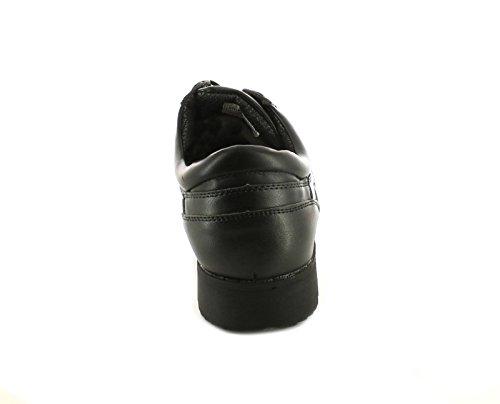 Rockstorm Nuovo da Uomo/Uomo Nero 4 Occhiello con Lacci Stile Mocassino Scarpe Nere - Numeri UK 6-12