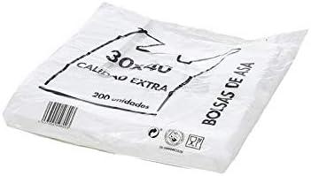 30 x 40 cm 600 bolsas BOLSAS DE PLASTICO ASA CAMISETA -25x30cm-30x40CM-40x50cm-40x60cm-50x60cm-50x70cm-70x80cm-85x100cm