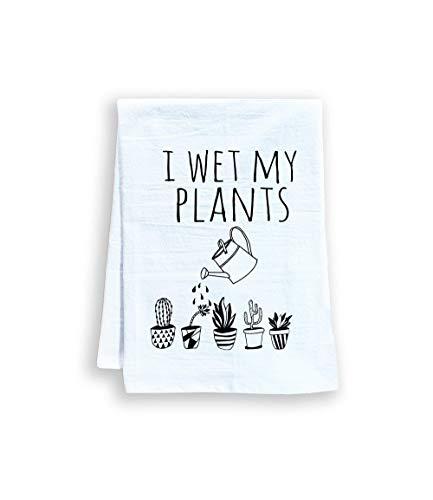 Funny Kitchen Towel, I Wet My Plants, Flour Sack
