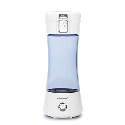 KINGDOMBEAUTY Portable Hydrogen Water Bottle Cup Recharge Hydrogen Rich Water Ionizer Maker Generator Large Capacity Battery Colorful Light Healthy Water Purifier Filter Treatment Blue by Kingdom