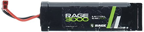 Rage RC NM3000-7FT 3000mAh 8.4V 7 Cell NiMH Sport Flat Battery Pack, T Plug (King Battery Rc)