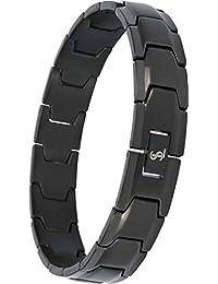 Elegant Surgical Grade Steel Men's Wide Link Stylish Bracelet, 4 Colors to Choose from