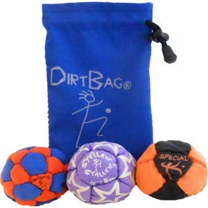 Dirtbag Medley Footbag Hacky Sack 3 Pack - Orange/Blue by Dirtbag