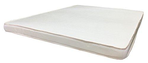 Muebles GM Colchón para Cama Infantil o Litera Matrimonial Hule Espuma 15 cm Franjas Blancas