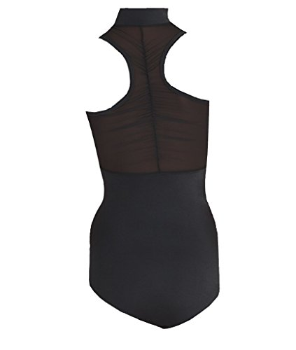 Body Wrappers P1002 Power Mesh Zip Front Leotard (Tall, Black) by Body Wrappers (Image #2)