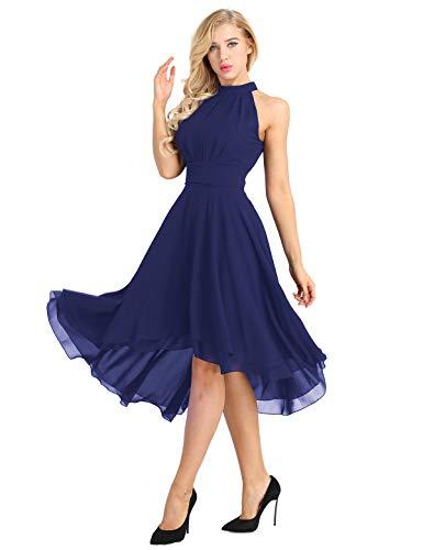 Robe YiZYiF Demoiselle 34 Marin Danse Mousseline d'honneur Soire Crmonie Menuet Marie Bleu de de 46 Mariage Asymtrique Robe Robe Classique Robe Femme Robe de Robe Bal de Cocktail rHSfqr