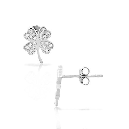 925 Sterling Silver White CZ I