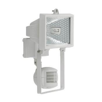 Foco halógeno fachadas foco foco con sensor de movimiento 150 Watt ECO blanco