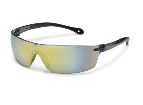 Gateway Safety 447M StarLite Squared Ultra-Light Safety Glasses, Gold Mirror Lens, Gray Temple (Pack of 10)