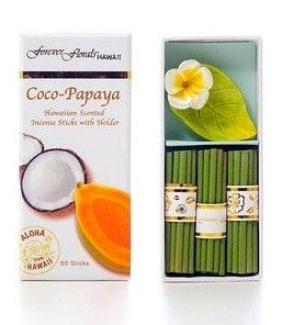 Tikimaster Coco Papaya Incense Sticks w/Ceramic Holder | #tw51290