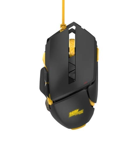 James Donkey 325S Gaming Mice USB Wired Mouse with Adjustable 1000-5000 DPI Level RGB LED Backlight 30 Million Click ZF Switch Ergonomic Gamer Mice for Windows Mac PC – ()