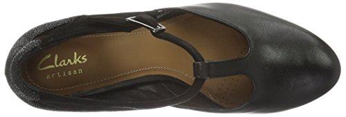 Gia Black Negro de Tacón Chorus Mujer para Clarks Leather Zapatos 5R8R4