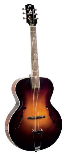The Loar LH-300-VS Hand-Carved Archtop Acoustic Guitar, Vintage Sunburst Finish