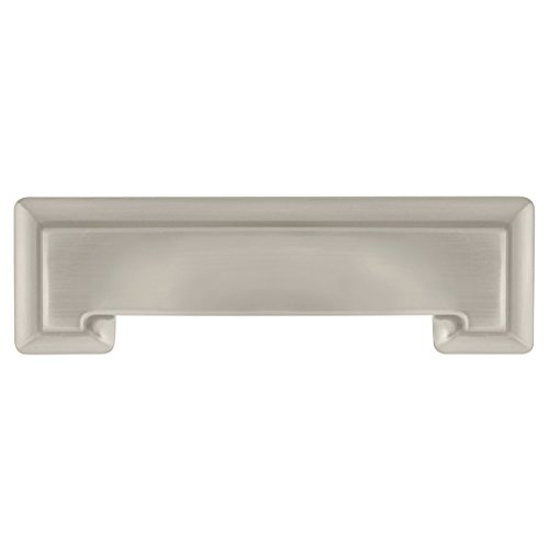 Traditional Classics Handle Pulls Cabinet - Hickory Hardware P3013-SN-10B Studio Collection Pull 3-3/4 Inch (96mm) Hole Center, 3 Inch Center to Center, Satin Nickel, 10 Each