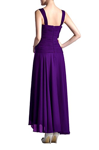 Mutter der Braut Br?utigam Kleid Tee L?nge formale Chiffon Anlass Brautjungfer, Farbe Lapis, 10