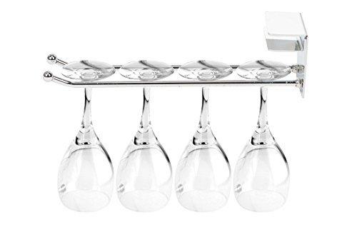 Glashalter Gläserschiene Weinglashalterung im edlen Design aus Metall