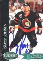 Darcy Loewen Ottawa Senators 1993 Parkhurst Calder Candidate Autographed Card. This item comes with a certificate of authenticity from Autograph-Sports. Autographed