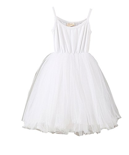 LYXIOF Baby Girls Tutu Dresses Sleeveless Princess Dress Infant Tulle Dress Toddler Sundress White A 2 Years -