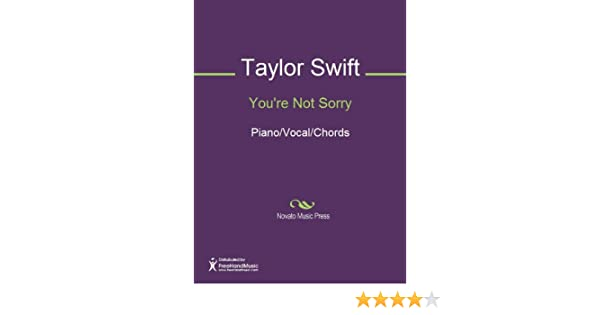 You\'re Not Sorry Sheet Music (Piano/Vocal/Chords) - Kindle edition ...