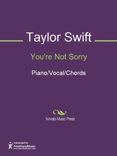 Youre Not Sorry Sheet Music Pianovocalchords Kindle Edition