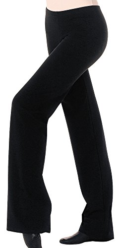 Body Wrappers Big Girls JAZZ PANT (MT0191) -BLACK -6X-7 by Body Wrappers