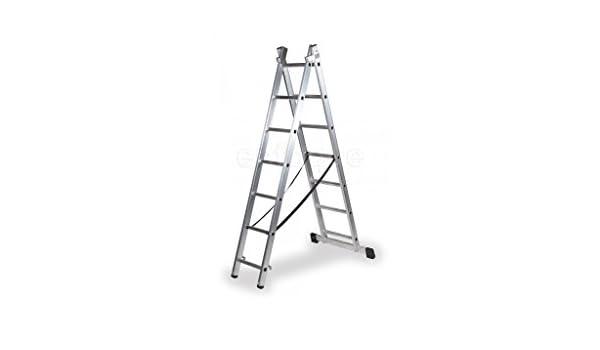 Escalera Extensible Aluminio 3X9 Garantizada: Amazon.es: Bricolaje y herramientas