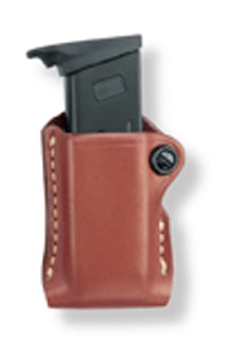 Gould & Goodrich 850-0 Gold Line Single Mag Case With Belt Loop (Chestnut Brown) Fits KAHR ARMS P380; KEL-TEC P3AT, P32; RUGER LCP; SIG P238; SW BODYGUARD ()