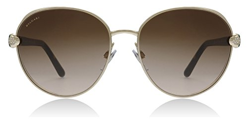 Bvlgari BV6087B 278/13 Pale Gold BV6087B Round Sunglasses Lens Category 3 ()