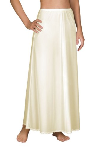 Nylon Slip Skirt (Shadowline Flare Half Slip (47116), 38