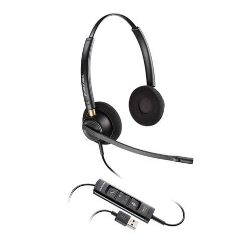 - Plantronics EncorePro HW525 USB Binaural On-Ear Headset