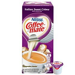 Coffee-mate 84652 Liquid Coffee Creamer, Italian Sweet Creme, 0.375 oz Cups (Box of (Creme Sweet)