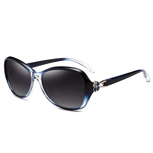 Rostro Protección Sol Pequeño Gafas De De Femenino Gafas Sol LIUXUEPING De Rostro Sol Marco Y Cara De Gafas Y Pequeño Larga Modelo Polarizadas UV De Pequeño Pequeño Azul Marco Elegante Pr De Femenino UV400 wxTOq8F